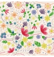 Fantasy flowers seamless pattern vintage vector image