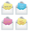 Paper notes in envelopes vector image