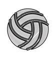 scribble volley ball cartoon vector image
