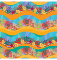 Seamless pattern with Coral Reef and Marine life vector image
