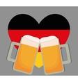 Beer Oktoberfest flag heart icon Germany vector image
