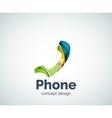 Retro phone logo template vector image