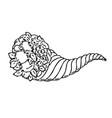 thanksgiving autumn cornucopia festival emblem vector image vector image