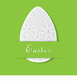Green Card for Easter vector image