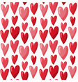 Cute Valentines Day seamless pattern with red vector image