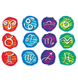 Set of icons circular zodiac vector image