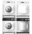 Washing machine and dryer machine vector image