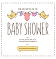 Baby shower invitation template Hand drawn vector image