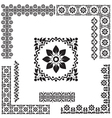 black and white turkish border set vector image