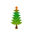 christmas tree emblem symbol of new year fir-tree vector image