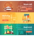 Construction and building banners set vector image