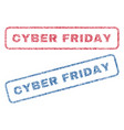 cyber friday textile stamps vector image