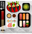 Food Japanese dishes vector image