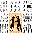 mix people silhouette vector image