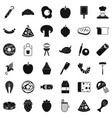 prepared dish icons set simple style vector image
