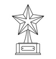 star award icon thin line vector image