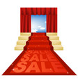 Sale red carpet vector image