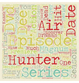 Hunter Season 2 DVD Review text background vector image