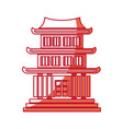 japanese building architecture traditional house vector image