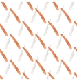 Straight razor Seamless watercolor pattern with vector image