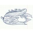 Doodle ear of corn vector image