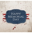 Happy Memorial Day textile Sign and Ribbon vector image