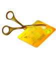 credit card cut out vector image