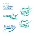 dental logo designcreative dentist logo dental vector image