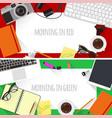 flat design creative workplace vector image
