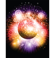 mirror ball background vector image