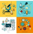 Science Concept Line Icons Set vector image