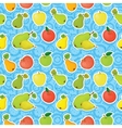 Seamless background apples and pears vector image