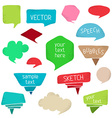 Set of colourful speech bubbles vector image