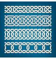 Set of Oriental Pattern Elements vector image