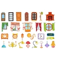 set of house interior objects vector image vector image