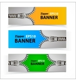 Promotional sale banners with zipper vector image vector image