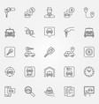rent a car icons set vector image