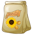 A pack of sunflower seeds vector image vector image