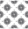 Seamless nautical pattern with old compass vector image vector image