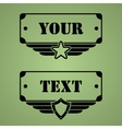 Military style tags vector image