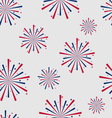 Seamless pattern firework for independence day of vector