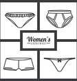 Underwear design vector image