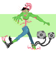 zombie twist vector image