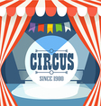 Circus postcard template Design elements vector image