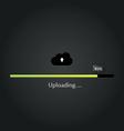 Cloud Uploading progress bar vector image
