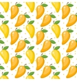 Mango seamless pattern endless background vector image