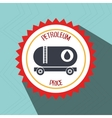 petroleum oil barrel icon vector image