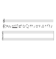 set of music notes and staff vector image