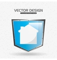 shield icon design vector image