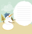 smiling happy christmas snowman vector image